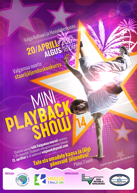 Mini Playbackshow 2012 plakat